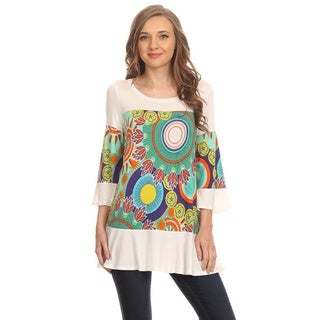Women's Medallion Contrast 3/4 Sleeve Shirt