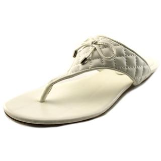 BCBGeneration Women's 'Alice' Faux White Leather Sandals