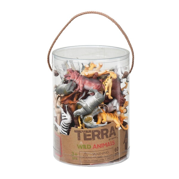 Terra Wild Animal Figures 60-piece Set 18158029