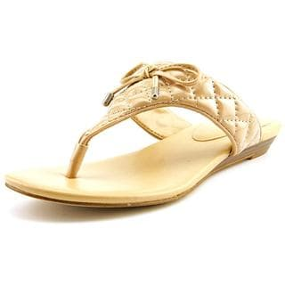 BCBGeneration Women's 'Alice' Faux Tan Leather Sandals