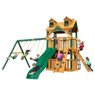 Gorilla Playsets Malibu Clubhouse Swing Set with Timber Shield