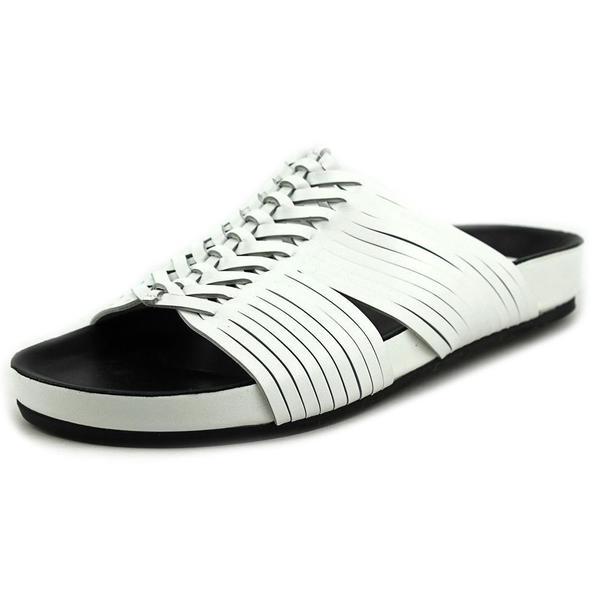 Belle Sigerson Morrison Women's 'Alva' Regular White Suede Sandals