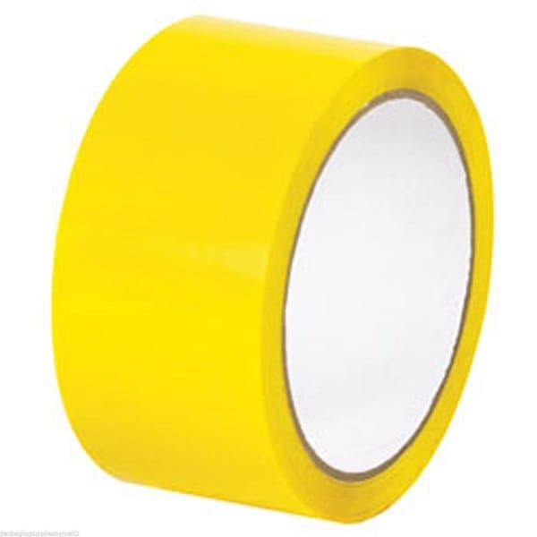 36 Rolls Color Packing Tape 2 mil Yellow 2 Inch x 1000 Yards Colored Tape(36)