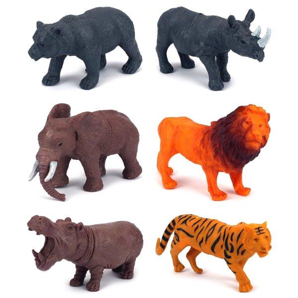 Jungle Animals 6-piece Toy Animal Figures Playset 18158458