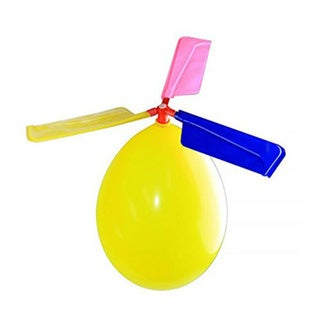 Kids Balloon Powered Helicopter Party Favor Toy (Pack of 12)