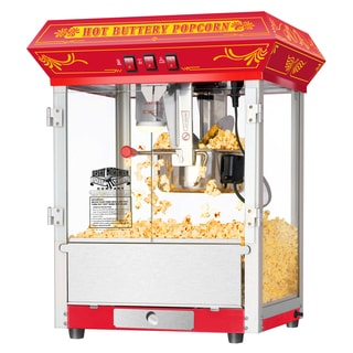 Great Northern Red 8 Ounce Countertop Popcorn Popper Machine