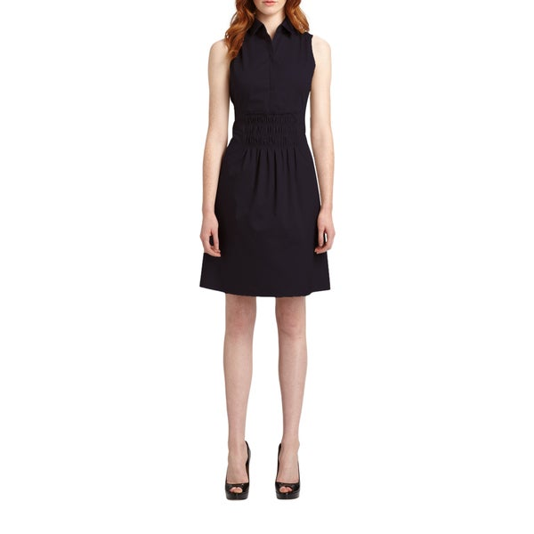 Elie Tahari Bernarda Blue Cotton Smock Dress