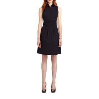 Elie Tahari Bernarda Blue Cotton Smock Dress