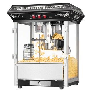 Great Northern Black 8 ounce Countertop Popcorn Popper Machine