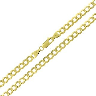 10k Yellow Gold 5mm Solid Cuban Curb Link Necklace