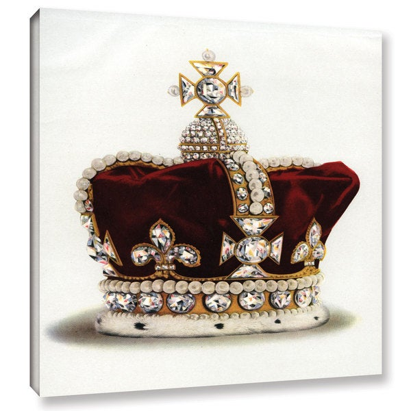 English English School's 'The Crown of Queen Mary of Modena from the Crown Jewels of England,1919' Gallery Wrapped Canvas