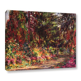 Claude Monet's 'The Garden Path At Giverny, 1902' Gallery Wrapped Canvas