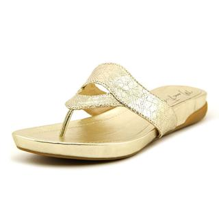 Marc Fisher Women's 'Anyssa' Gold Synthetic Sandals