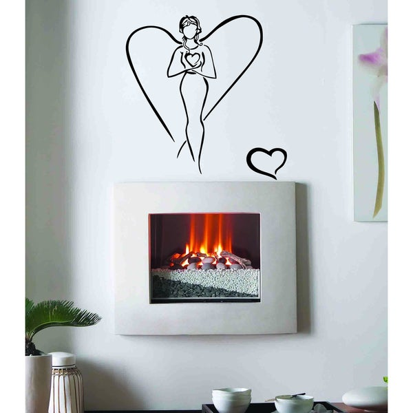 love god heart of the soul of man girl Wall Art Sticker Decal