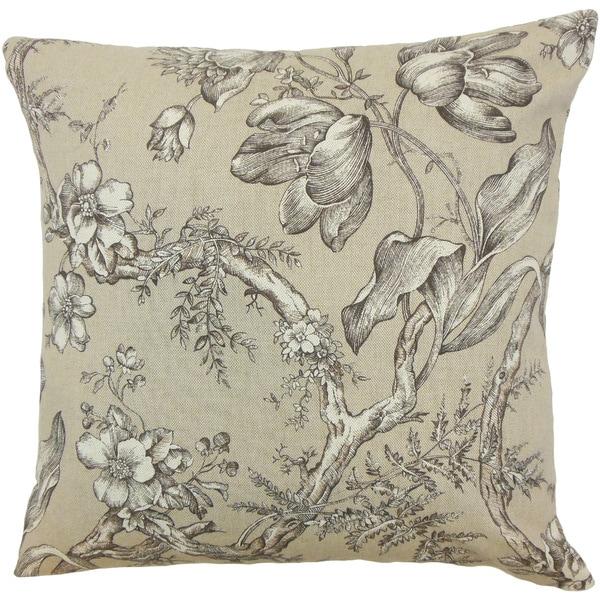 Blair Floral Black/ White Throw Pillow