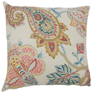 Chaney Paisley Beige Throw Pillow