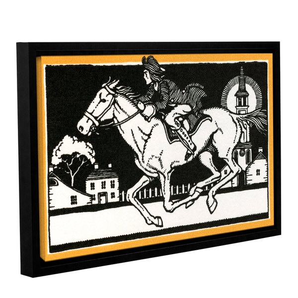American School 'The Midnight Ride of Paul Revere,1930' Gallery Wrapped Floater-framed Canvas