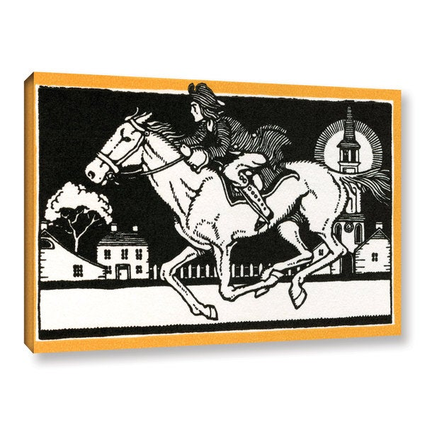 American School 'The Midnight Ride of Paul Revere,1930' Gallery Wrapped Canvas