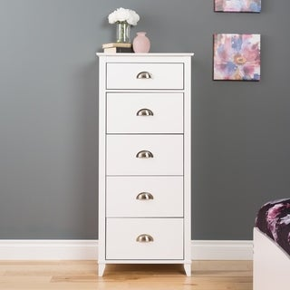 5 Drawer Dresser in White