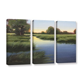 Julie Peterson's 'Morning Glow' 3 Piece Gallery Wrapped Canvas Set