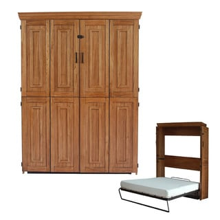 Chestnut Finish Queen Murphy Bed