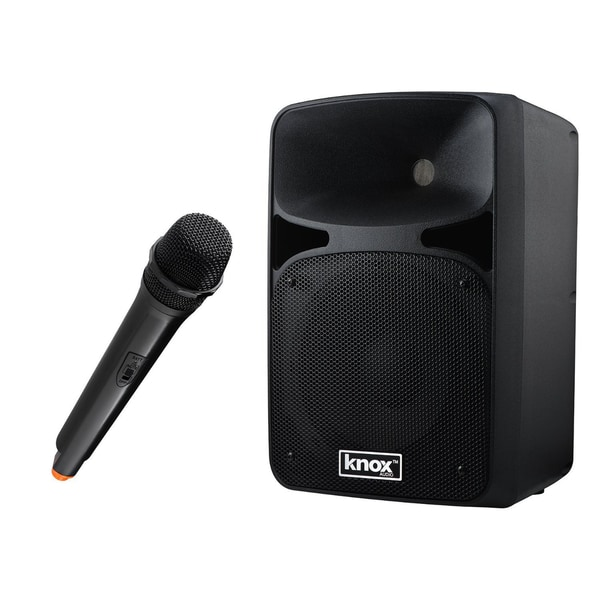 Knox 8-Inch Rechargeable Bluetooth Party Music Player and PA System