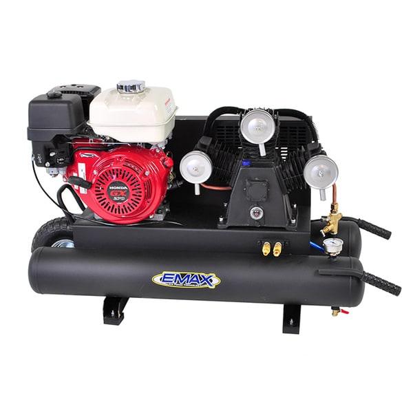 EMAX 10-gallon 9 HP Portable Gas Wheelbarrow Air Compressor with Honda GX270 Engine