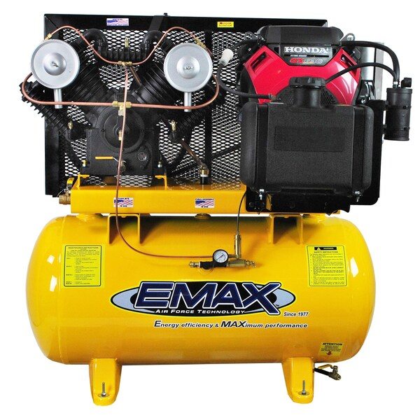 EMAX Industrial Plus 18 HP 2-Stage 60-gallon Stationary Gasoline Air Compressor