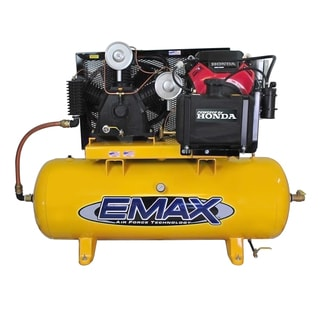 EMAX Industrial Plus 24 HP 2-Stage 80 gal.Stationary Gasoline Electric Air Compressor