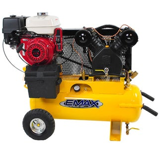 EMAX Industrial Plus 8 HP 17-gallon Truck Mount Portable Gasoline Air Compressor