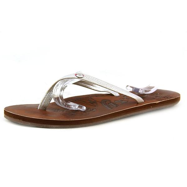 Roxy Women's 'Chia' Faux Silver Leather Sandals