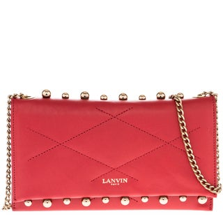 Lanvin Sugar Small Pearls Clutch Bag with Chain