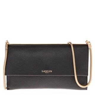 Lanvin Leather Wallet on Snake Chain Bag