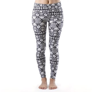 Plus Size Winter Pattern Print Leggings