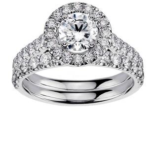 Platinum 2 1/4ct TDW Diamond Engagement Bridal Set (G-H, SI1-SI2)