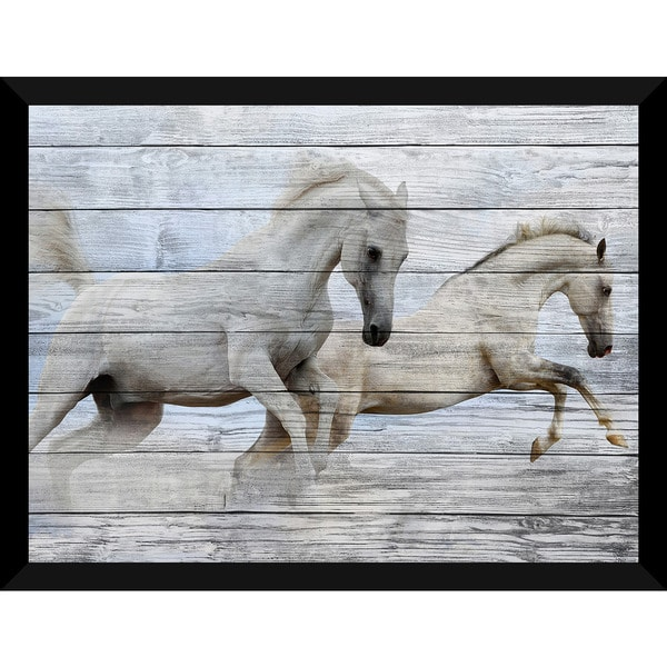 Run Wild, Run Free' Giclee Wood Wall Decor