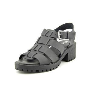 Mia Women's 'Arrow' Black Leather Sandals