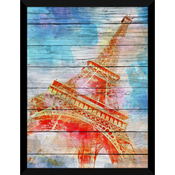 A Place In Paris' Giclee Wood Wall Decor