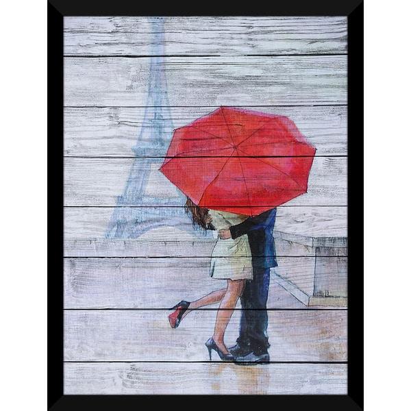 Paris Romance' Giclee Wood Wall Decor