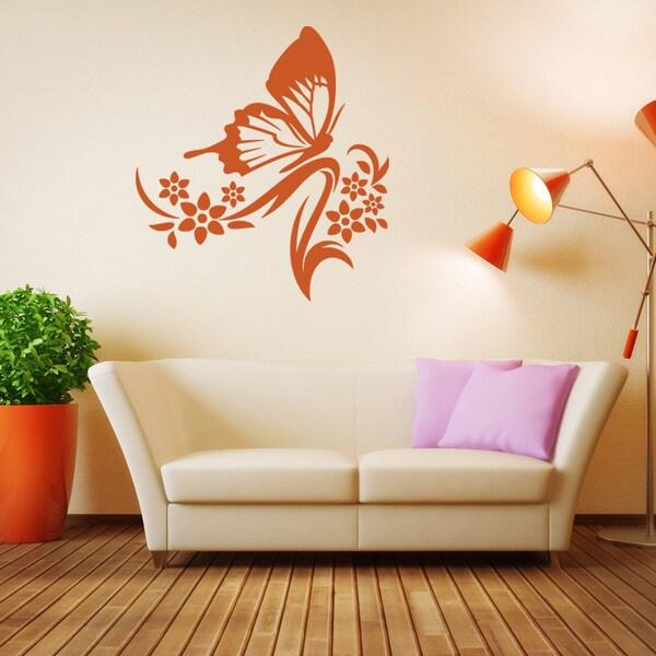 Butterfly Branch Wall Decal Vinyl Art Home Decor