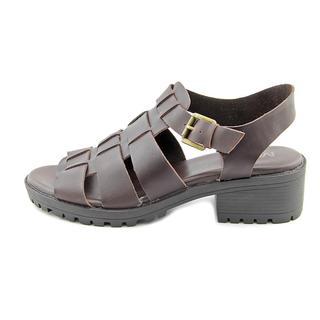 Mia Women's 'Arrow' Brown Leather Sandals