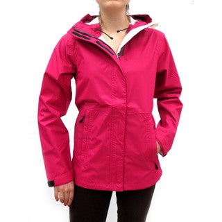 Narragansett Traders Women's Dark Pink Lightweight Waterproof Hooded Jackets