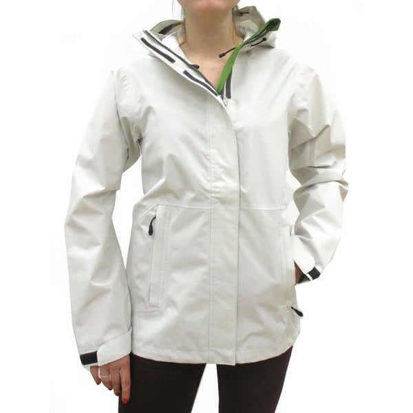 Narragansett Traders Women's Ivory Lightweight Waterproof Hooded Jackets
