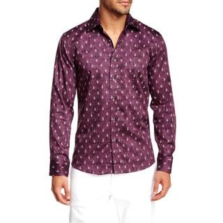 TR Premium's Printed Long Sleeve Button Down Shirt
