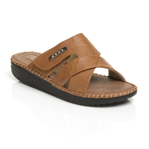 Unsensored Women's Hook and Loop Strap Sandal