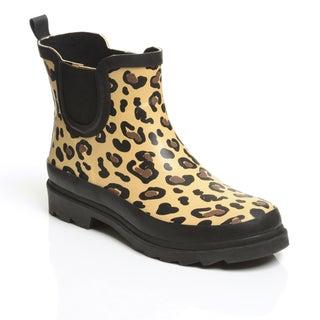 Unsensored Women's Leopard Waterproof Slip On Bootie