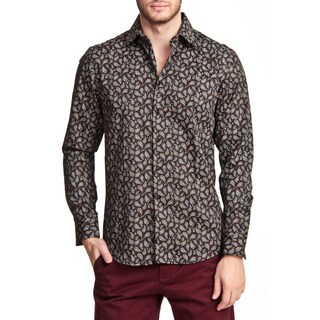 TR Premium's Paisley Long Sleeve Button Down Shirt
