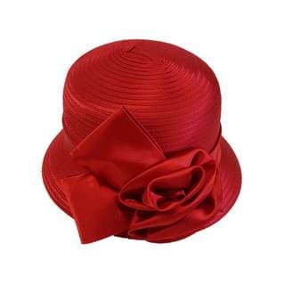 Women's 'All Year Around' Satin Ribbon Swan Hat