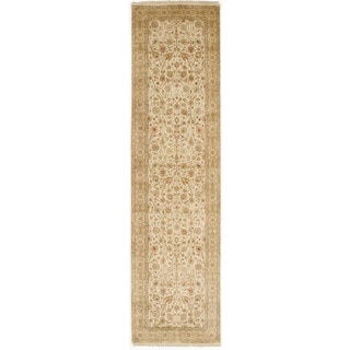 Hand-knotted with Tabriz Design Runner Rug (2' 8 x 10' 1)