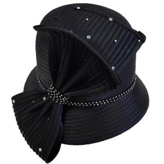 Women's 'All Year Around' Large Tie Bow Satin Ribbon Swan Hat